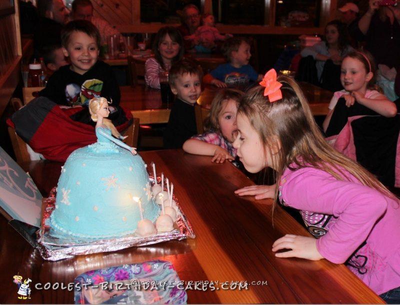 Beautiful Elsa Doll Cake