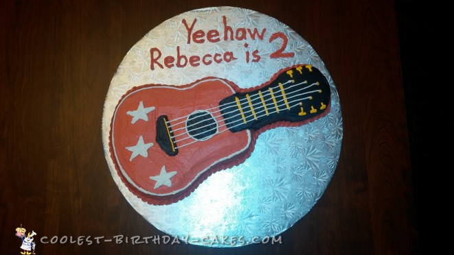 Astonishing 250 Coolest Homemade Guitar Shaped Birthday Cakes Funny Birthday Cards Online Barepcheapnameinfo