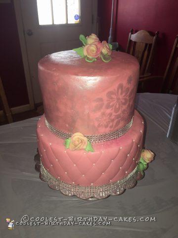 Beautiful Sweet 16 Birthday Cake