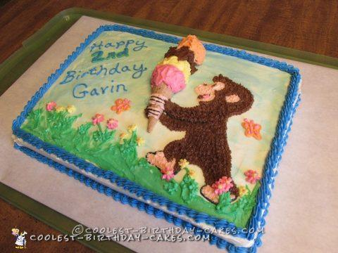 Coolest Curious George and the Balancing Cone Birthday Cake