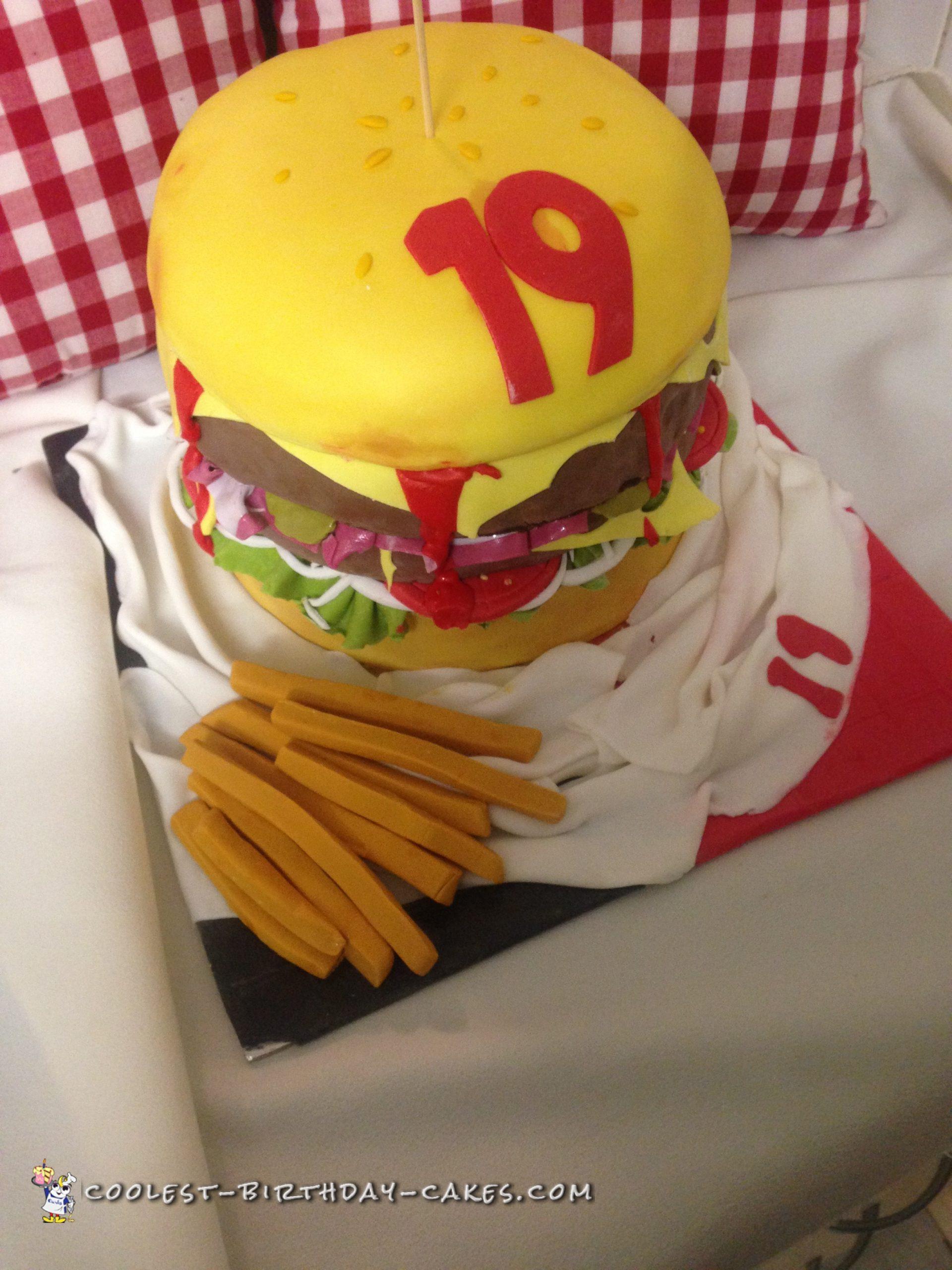 Awesome Hamburger Cake Idea