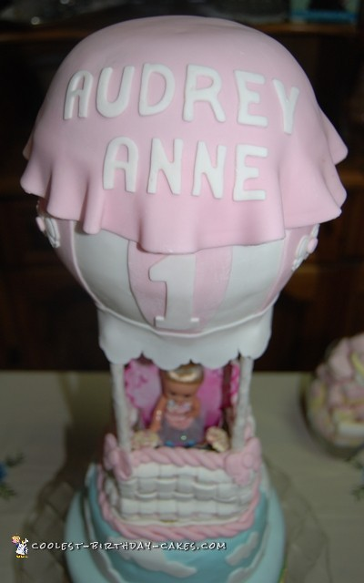 Sweet Hot Air Balloon Cake for Baby's 1st Birthday