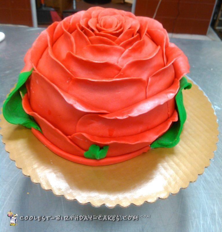 Beautiful Rose Cake