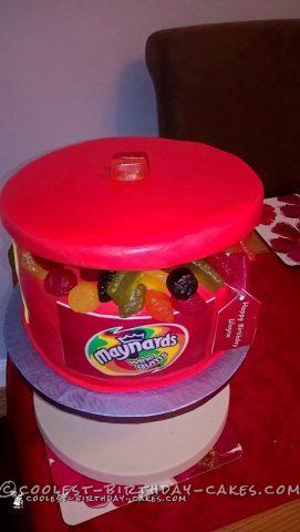 Cool Tin of Wine Gums Cake