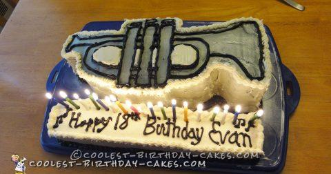 Coolest Trumpet Cake