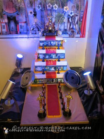 Awesome Tiered Hollywood Theme Cake