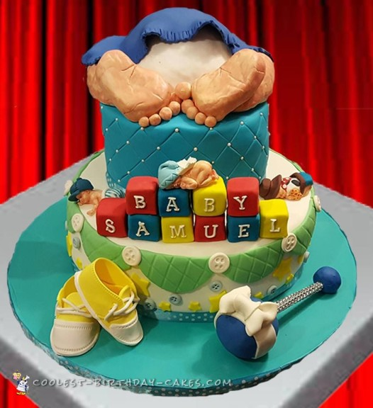 Last Minute Baby Shower Cake