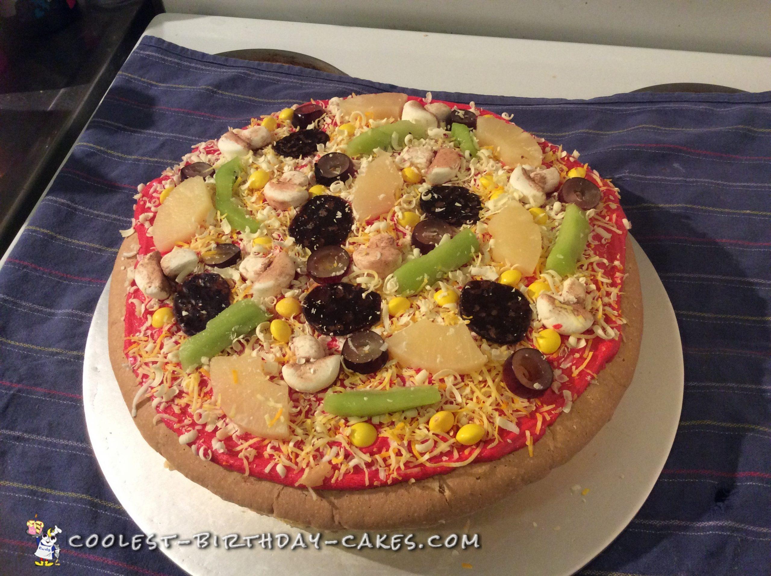Pizza-licious Birthday Cake