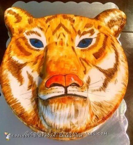 Awesome 3D Tiger cake