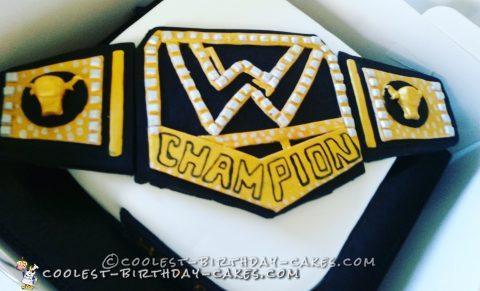 Cool WWE Belt Cake