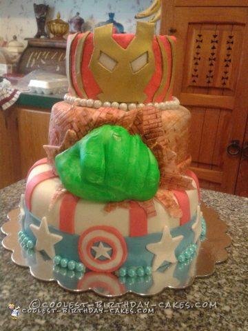 Cool Homemade Superhero Cake