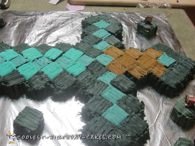 Cool Minecraft Cake for Baby Boy