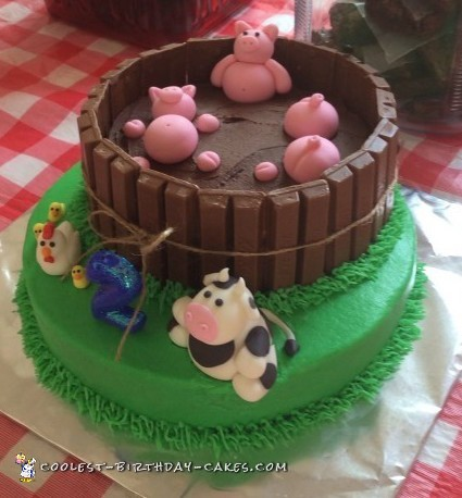 Admirable Coolest Homemade Barnyard Farming Cakes Funny Birthday Cards Online Sheoxdamsfinfo