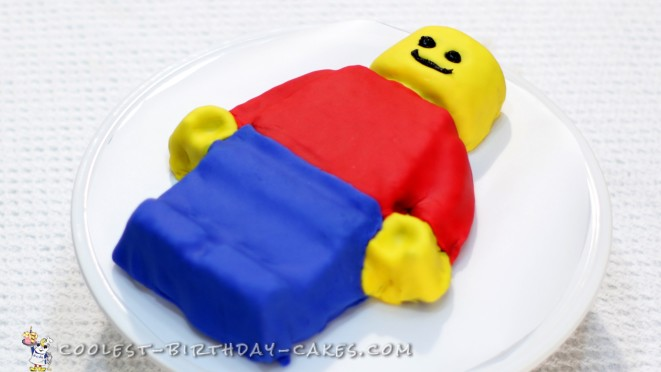 Easy Lego Man Cake Tutorial