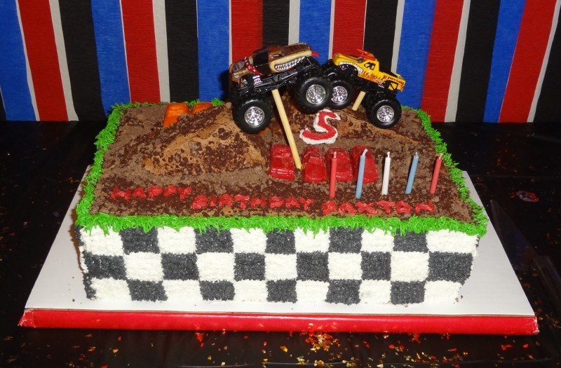 Fantastic Coolest Homemade Monster Truck Cakes Funny Birthday Cards Online Elaedamsfinfo