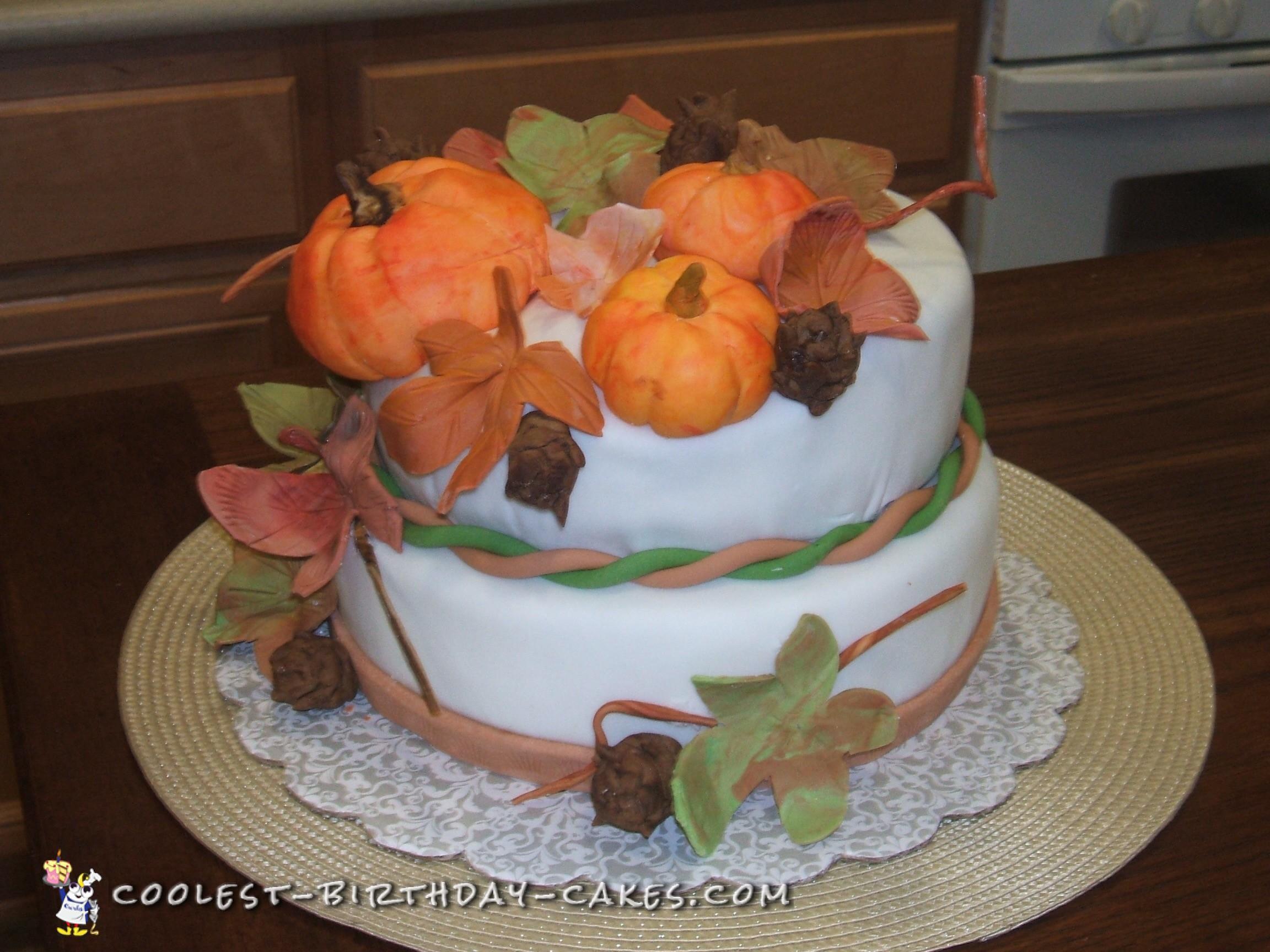 Harvest Cake for Thanksgiving
