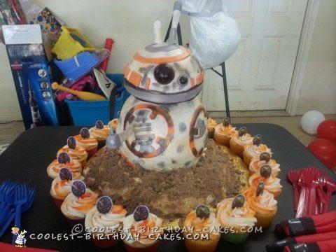 Cool Star Wars BB8 Birthday Cake