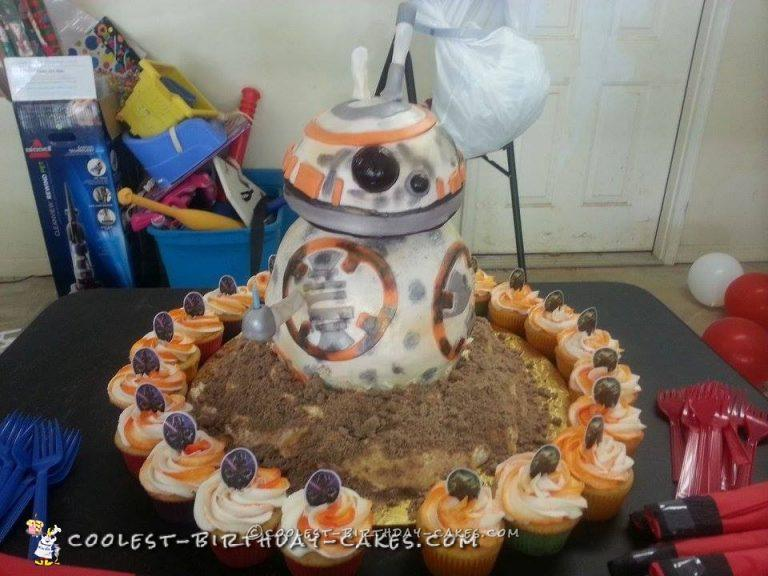Cool Star Wars BB8 Birthday Cake