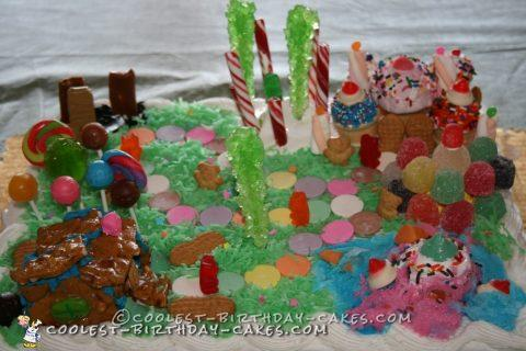 Cool Candyland Homemade Birthday Cake