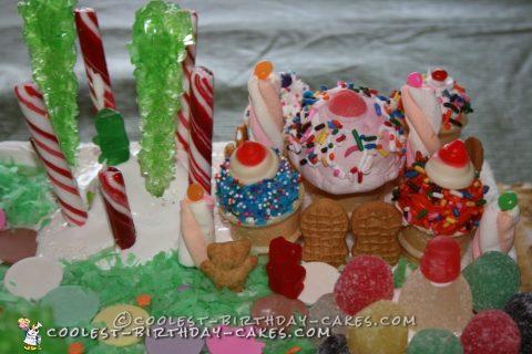 Cool Candyland Homemade Birthday Cake