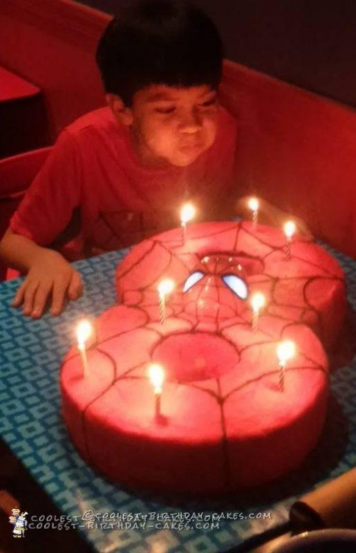 Cool Spiderman Birthday Cake