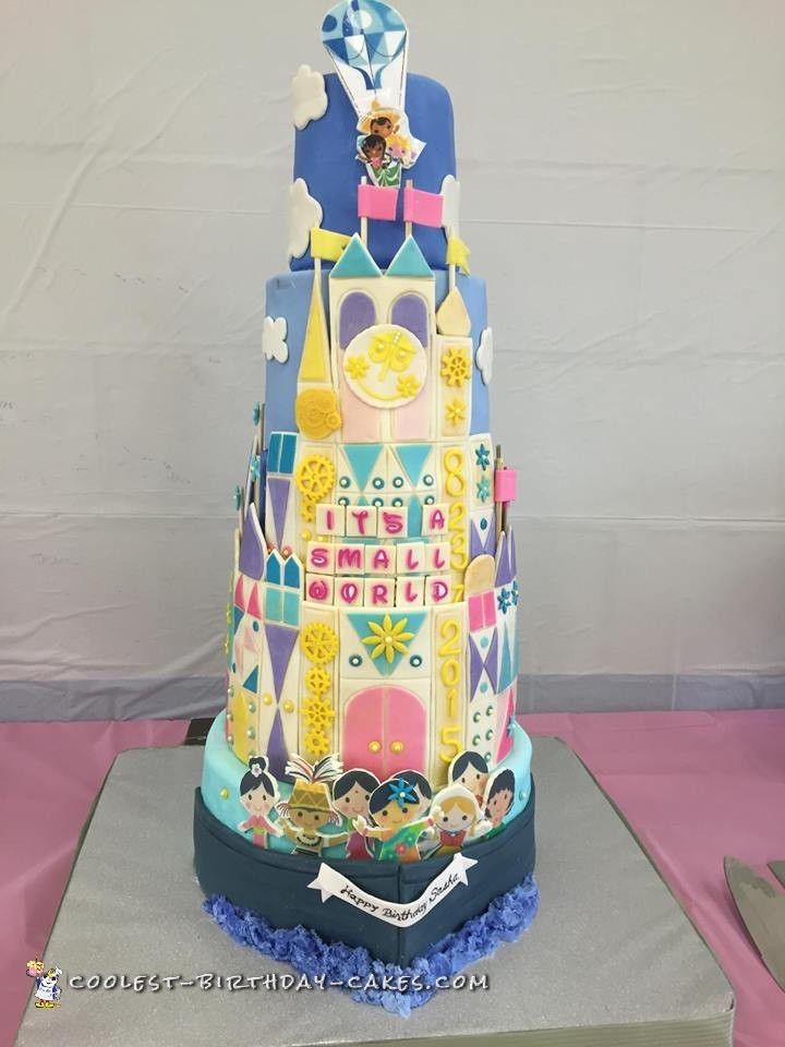 I Was Asked To Bake And Design A Birthday Cake Which Big Enough Feed 150 People AND Themed Its Small World It For My Great Nieces 1st