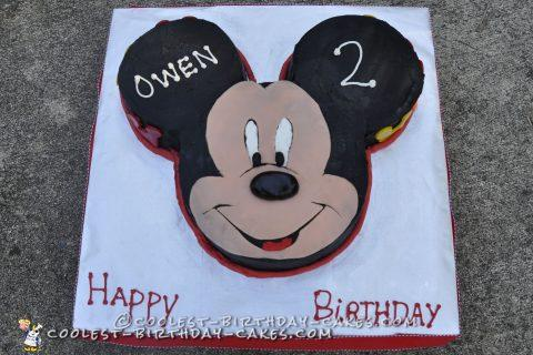 Miraculous 12 Coolest Mickey Mouse Cake Ideas Coolest Birthday Cakes Funny Birthday Cards Online Elaedamsfinfo