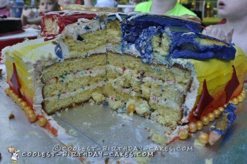 Cool Power Rangers Samurai Birthday Cake for Two