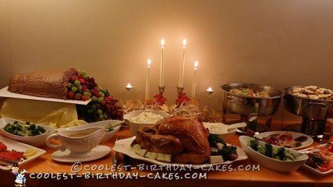 Cool Homemade Thanksgiving Cornucopia Cake