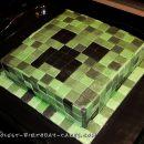 Cool Minecraft Creeper DIY Cake