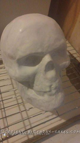 Fun Halloween Sweet Sixteen Skull Cake
