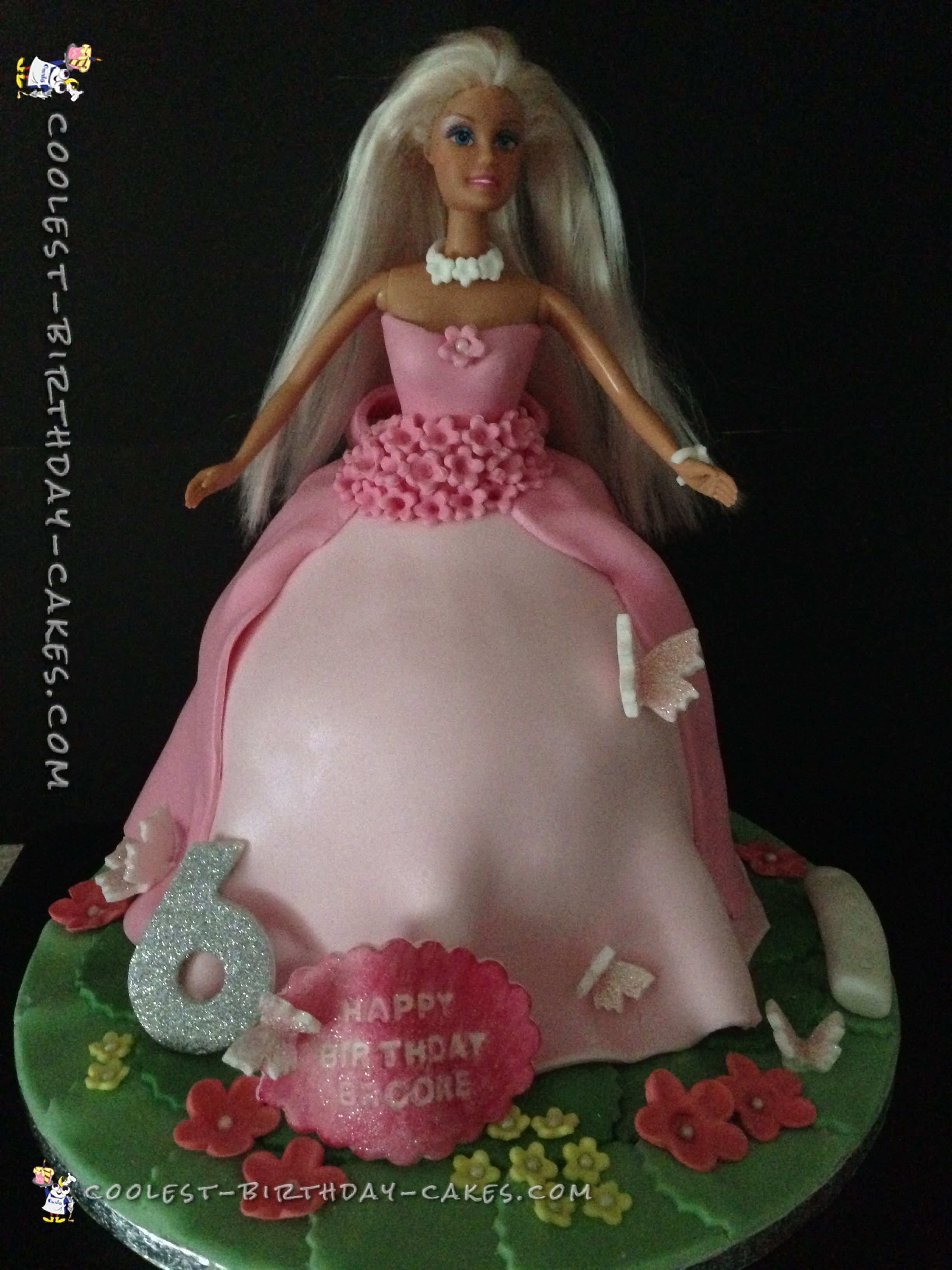 Coolest DIY Barbie Cake