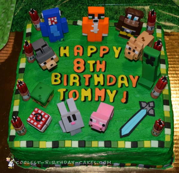 Awesome Minecraft Birthday Cake