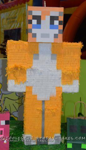 Awesome Minecraft Birthday Cake