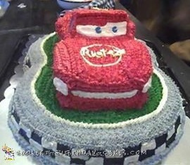 Fabulous Cool Lightning Mcqueen Birthday Cake Personalised Birthday Cards Cominlily Jamesorg