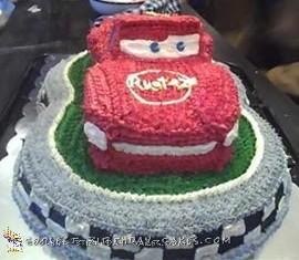Cool Lightning McQueen Birthday Cake