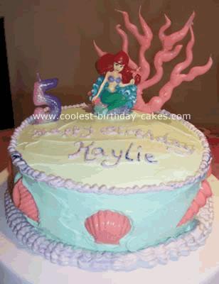 Ariel and Seashells Cake