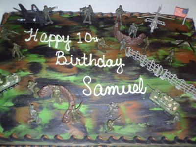 Army camoflauge Cake