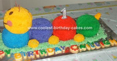 Baby Einstein Caterpiller cake