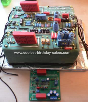 Circuit Board Birthday Cake