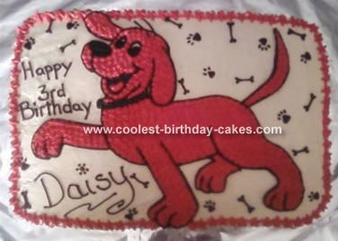 Pleasing Clifford The Dog Cake Personalised Birthday Cards Petedlily Jamesorg