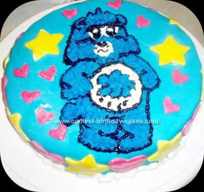 Homemade Grumpy Care Bear Cake