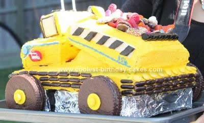 Homemade Tonka Truck Cake