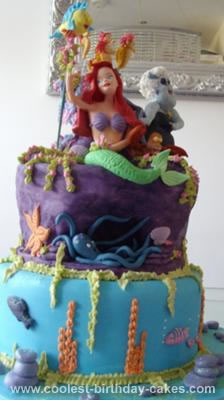 Homemade Under The Sea Birthday Cake