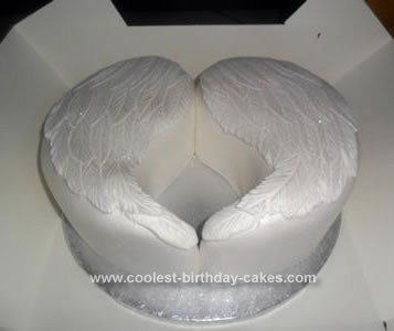 Homemade Angel Wings Birthday Cake