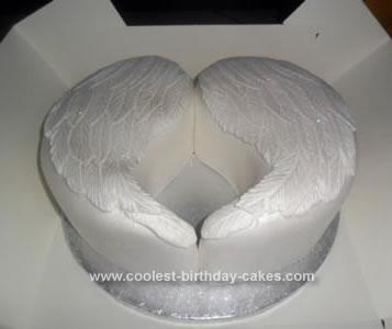 Homemade Angel Wings Birthday Cake