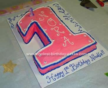 Homemade  1 Birthday Cake