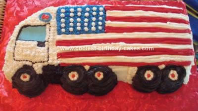 Homemade 18 Wheeler Cake