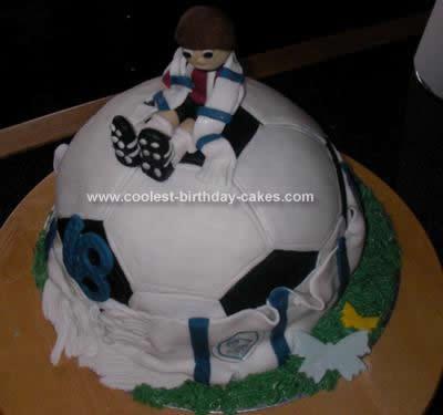 Homemade 18th Football Birthday Cake