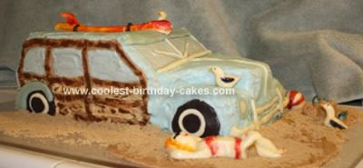 Homemade 1951 Woody Car Cake